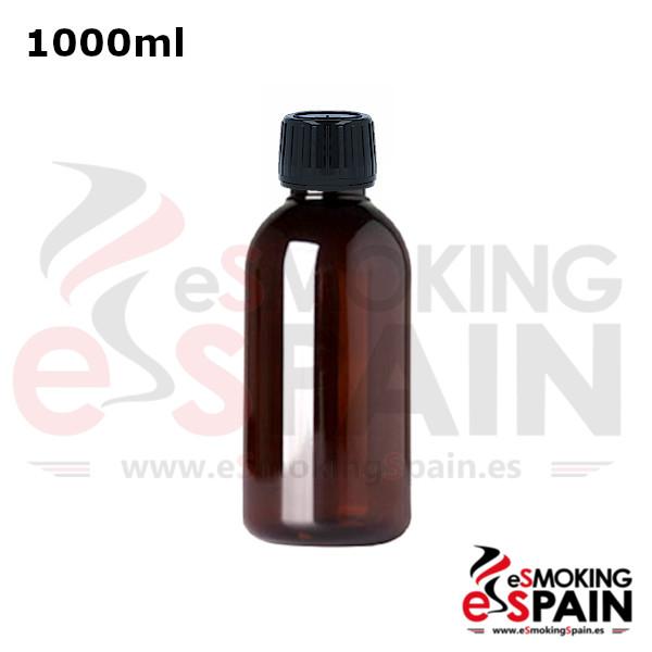 Botella Ámbar B-PET 1000ml