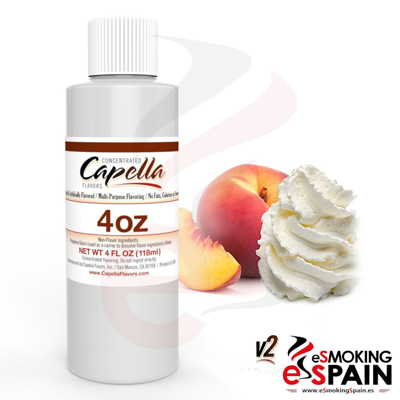Aroma Capella Peaches And Cream V2 118ml (*nº163)