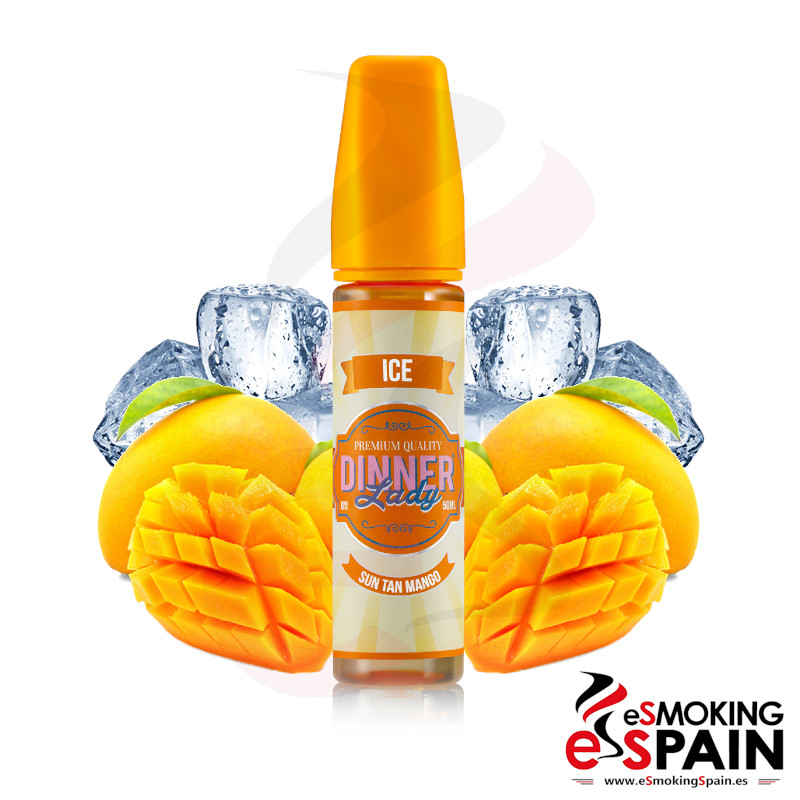 Dinner Lady Ice Sun Tan Mango 50ml 0mg