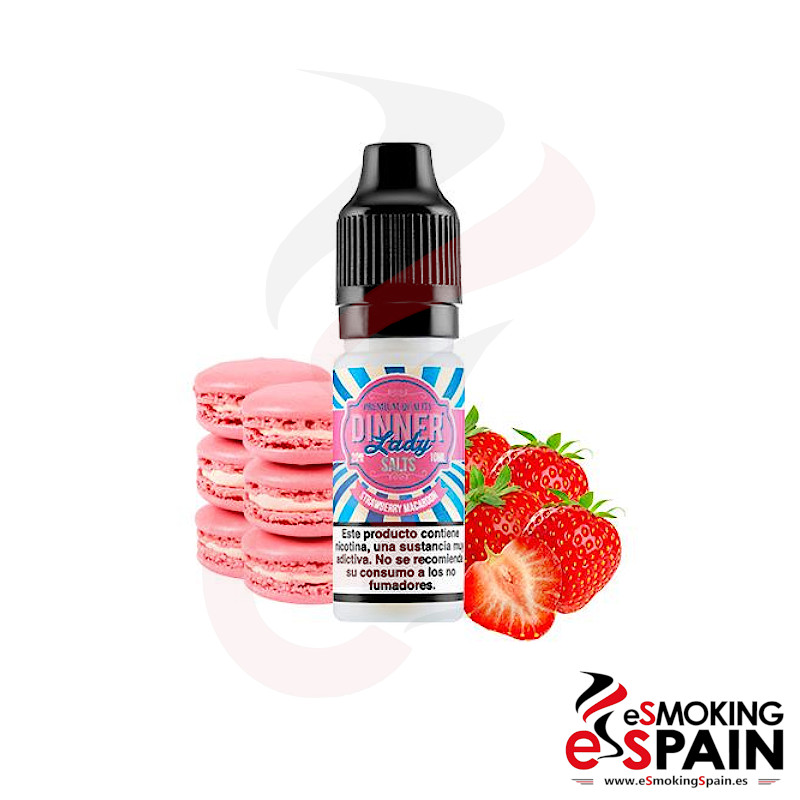 Dinner Lady Salts Strawberry Macaroon 10ml 20mg