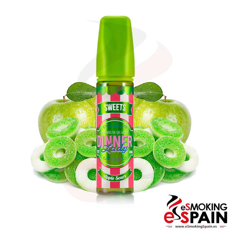 Dinner Lady Sweets Apple Sours 50ml 0mg