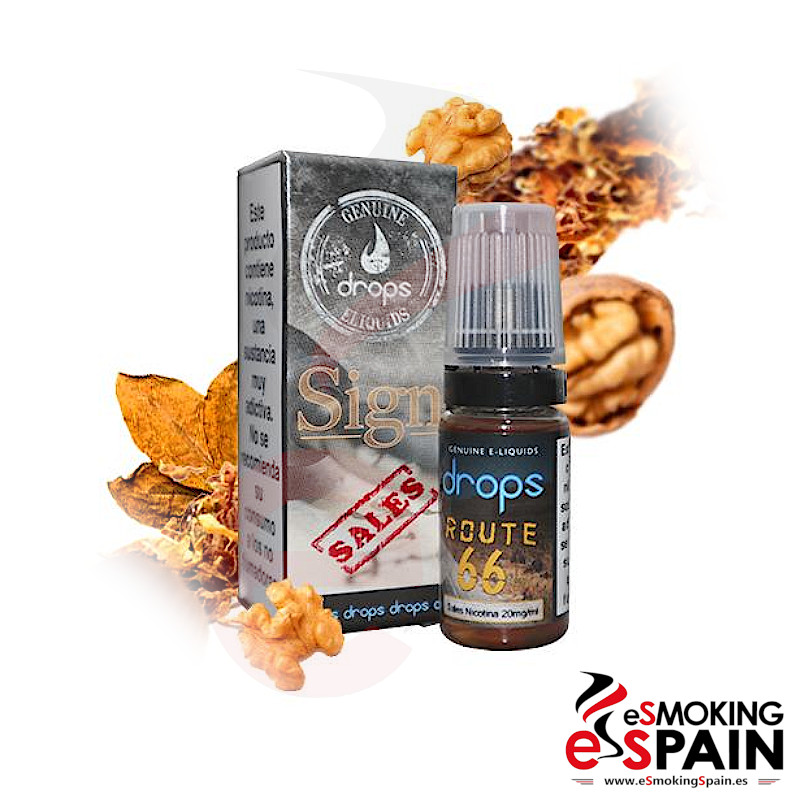 "Drops E-Liquids Route 66 Sales 10ml 20mg <img src=""includes/languages/english/images/buttons/icon_newarrival.gif"" border=""0"" alt=""New : Drops E-Liquids Route 66 Sales 10ml 20mg"" title="" New : Drops E-Liquids Route 66 Sales 10ml 20mg "">"
