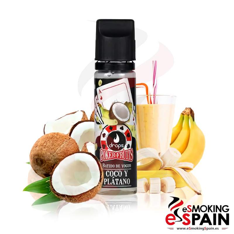 Drops Poker Fruits Batido Coco Platano 50ml 0mg