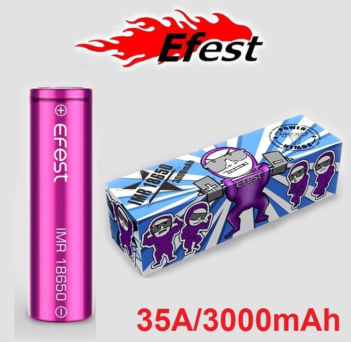 Bateria Efest IMR 18650 3000mAh 35A