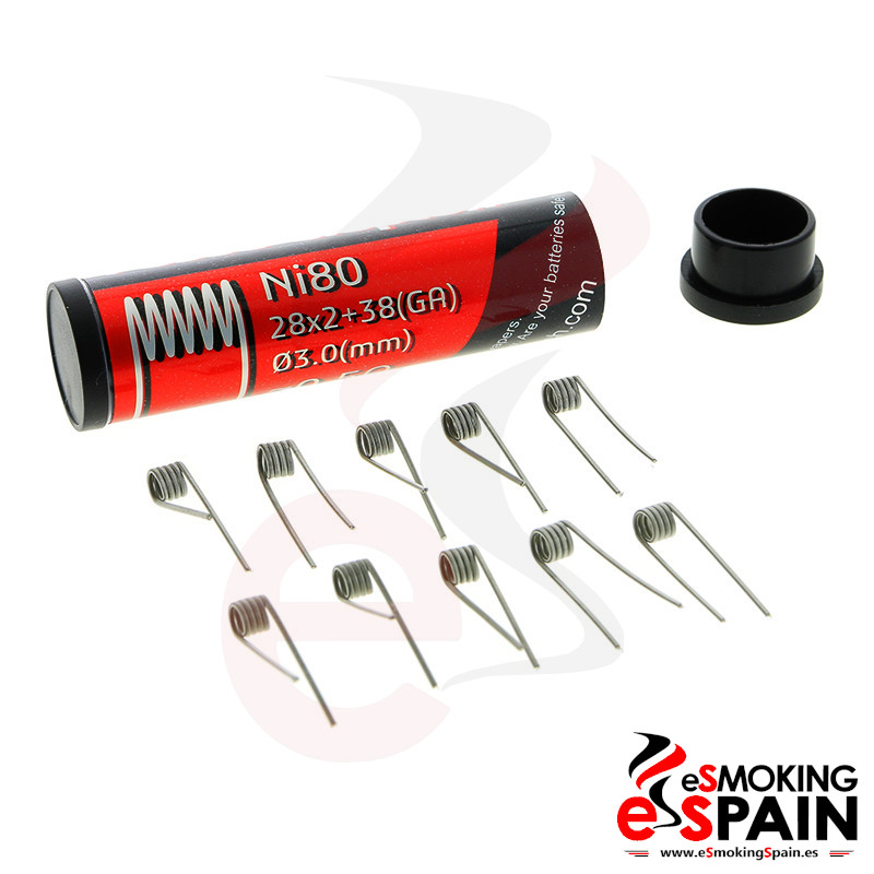 Fumytech Fused Clapton Ni80 28*2+38 Pack 10ud