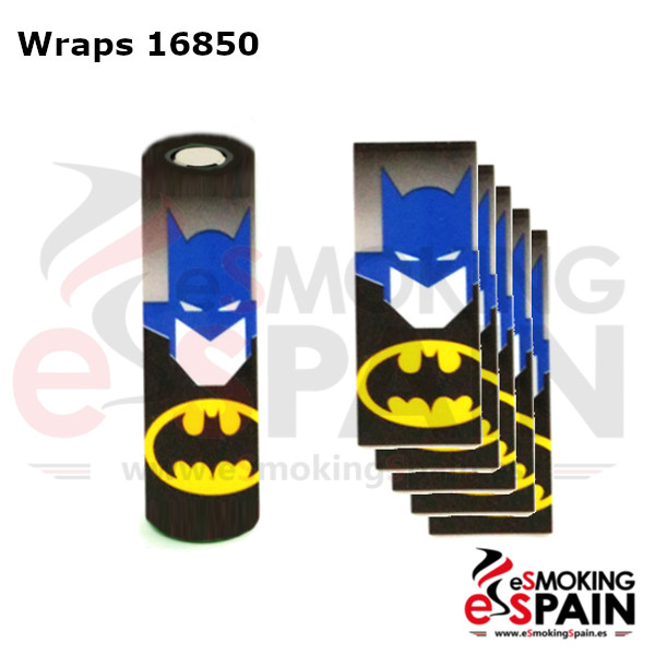 Pack 5 Fundas Bateria 18650 Batman