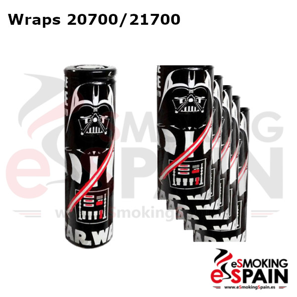 Pack 5 Fundas Bateria 20700 / 21700 StarWars