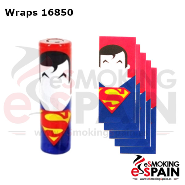 Pack 5 Fundas Bateria 18650 SuperMan