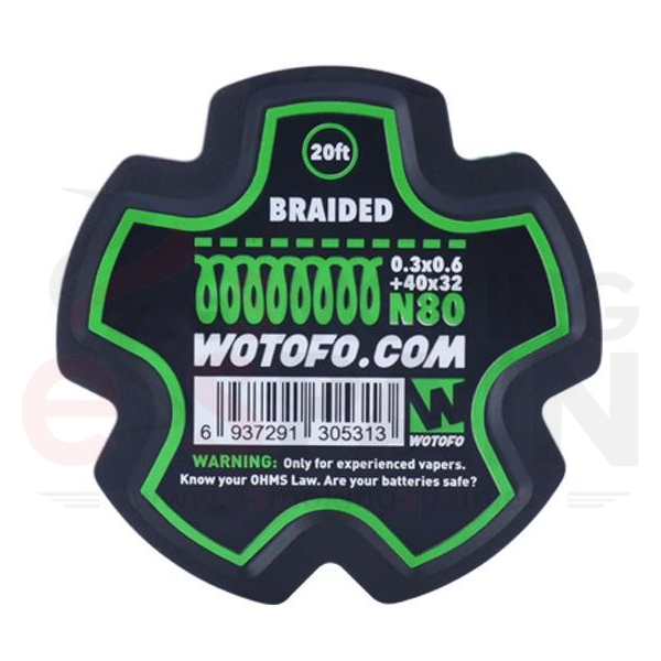 Wotofo Braided Wire Ni80 0.3x0.6+40x32 - 6m