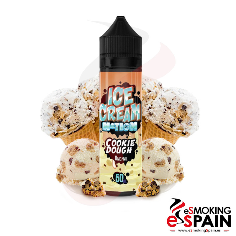 Ice Cream Nation Cookie Dough Ice Cream 50ml 0mg