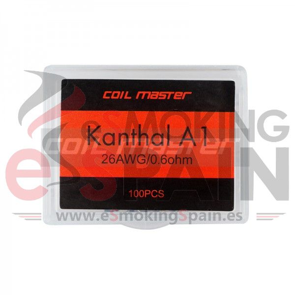 Pre-build Coil Kanthal A1 22AWG 0.4Ohm Coil Master 100pcs