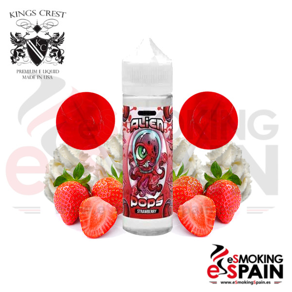 Kings Crest Alien Pops Strawberry 50ml 0mg