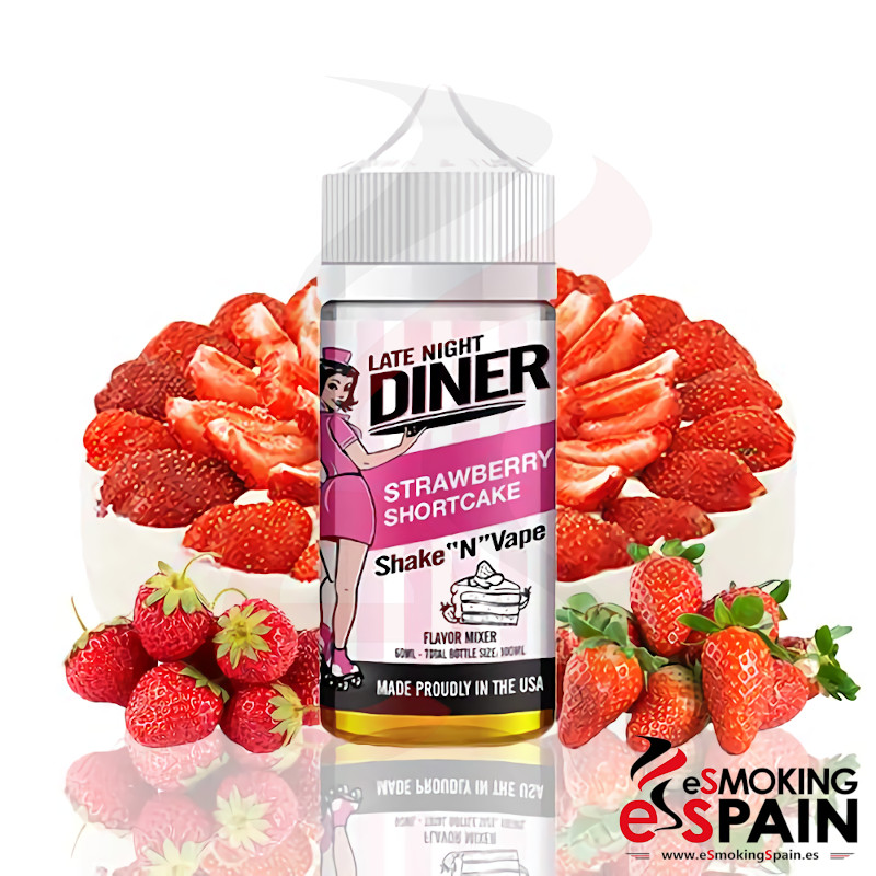 Late Night Diner Strawberry Shortcake 50ml 0mg