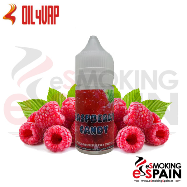 Liquido Oil4Vap Fresh Raspberry Candy 20ml 0mg