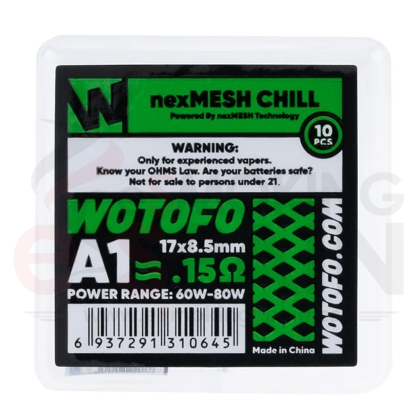 Wotofo nexMesh Chill A1 Malla 0.15 Ohm
