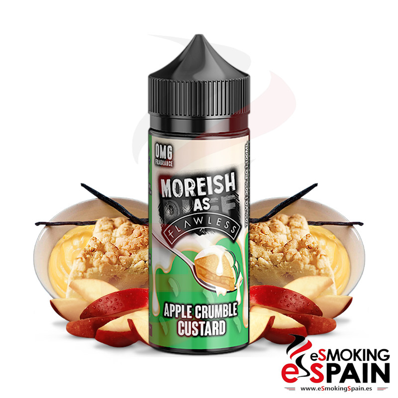 Moreish Puff As Flawless Apple Crumble Custard 100ml 0mg