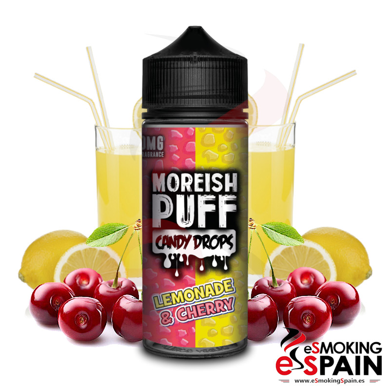 Moreish Puff Candy Drops Lemonade Cherry 100ml 0mg