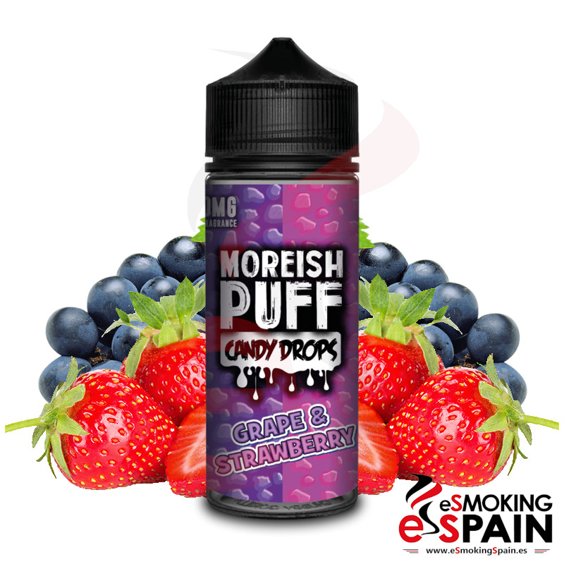 Moreish Puff Candy Drops Grape Strawberry 100ml 0mg