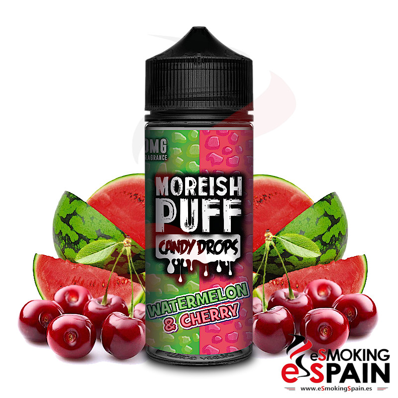 Moreish Puff Candy Drops Watermelon Cherry 100ml 0mg
