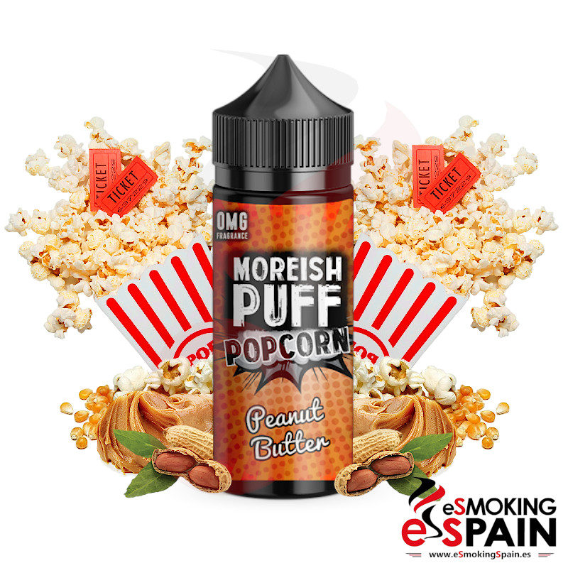Moreish Puff Popcorn Peanut Butter 100ml 0mg
