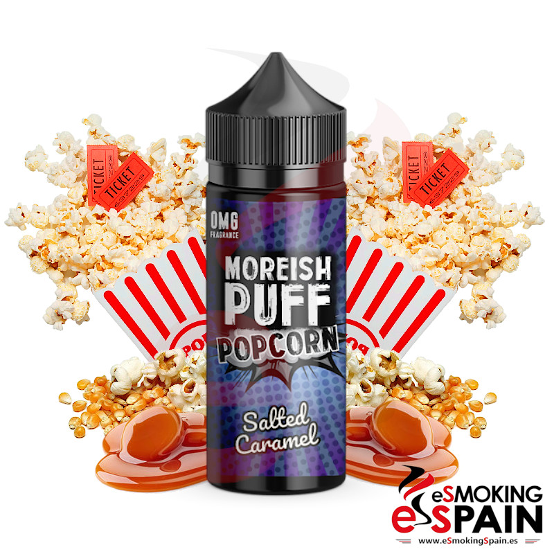 Moreish Puff Popcorn Salted Caramel 100ml 0mg