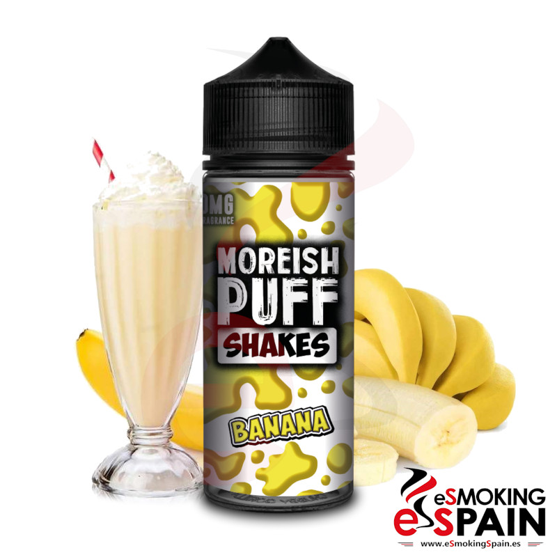 Moreish Puff Shakes Banana 100ml 0mg