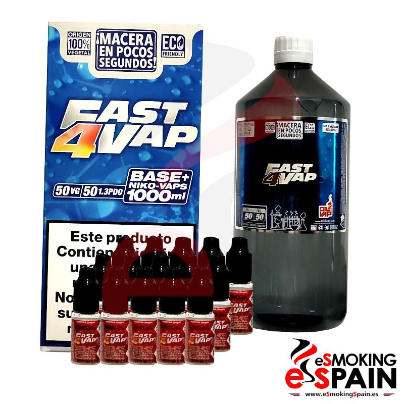 Oil4Vap Fast4Vap Pack Base 50VG/50PDO 1000ml 3mg