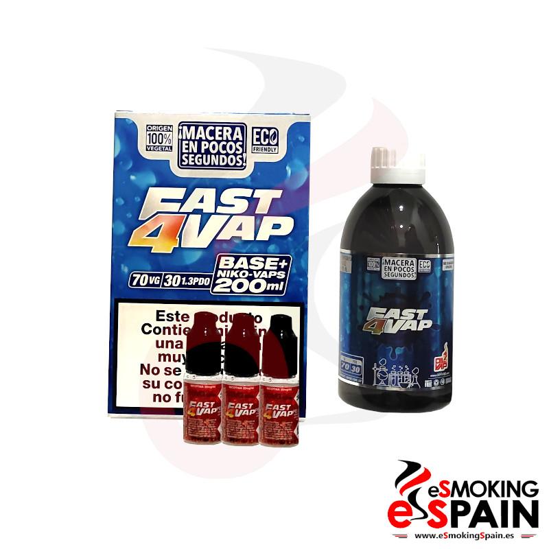 Oil4Vap Fast4Vap Pack Base 70VG/30PDO 200ml 3mg