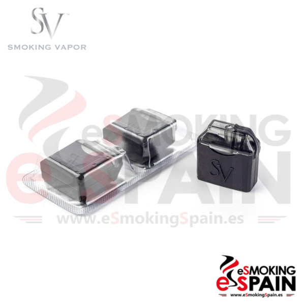 Smoking Vapor 2 x Empty Rechargeable Cartridges Mi Pod