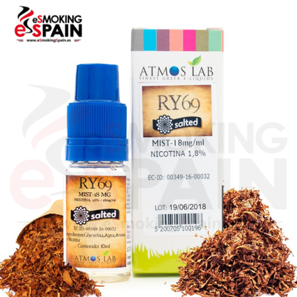 Sales de Nicotina Atmos Lab RY69 Salted 18mg 10ml