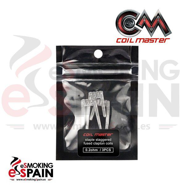 Staple Staggered fused clapton coils 0.2 ohm (3pcs)