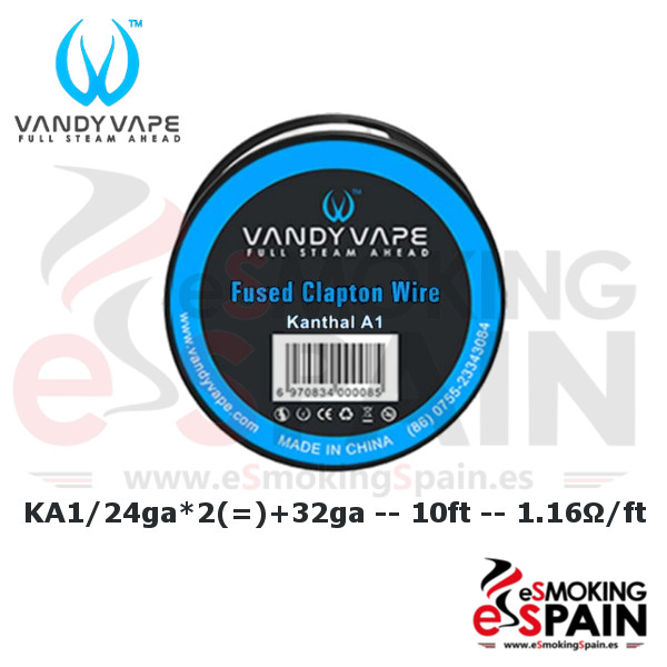 Vandy Vape Kanthal A1 Fused Clapton Wire  24ga+32ga 10ft (3m)