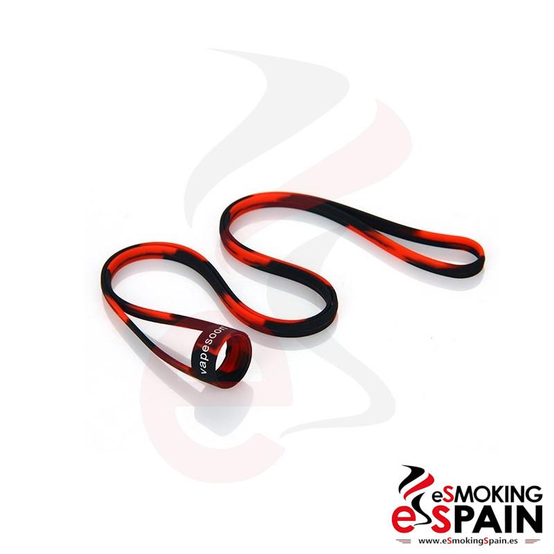 Vapesoon Universal Silicone Lanyard Black Red