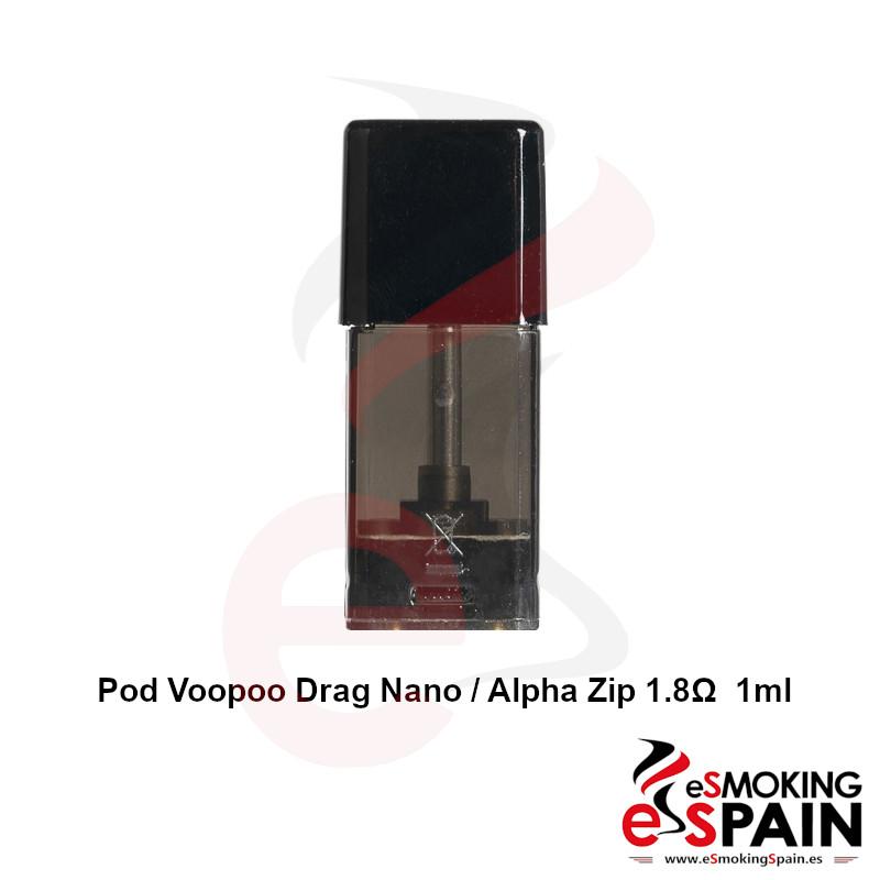 Voopoo Drag Nano / Alpha Zip POD 1.8ohm 1ml