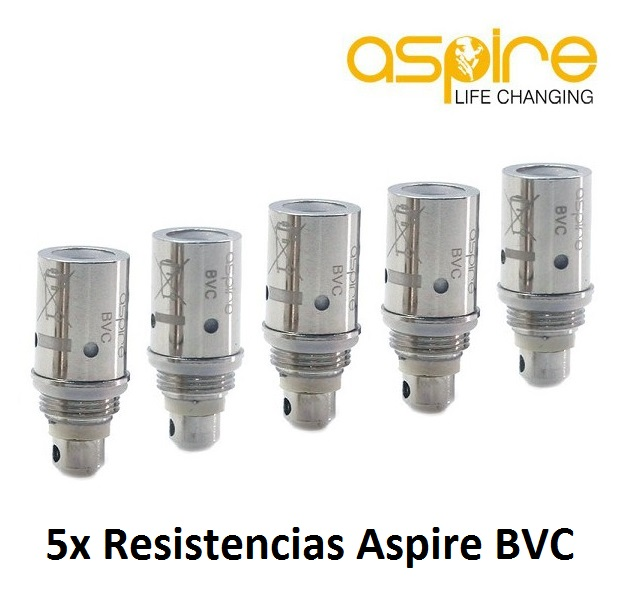 Pack 5 Resistencias Aspire BVC