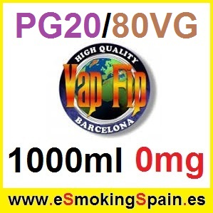 1000ml Base VapFip 20%PG / 80%VG 0mg