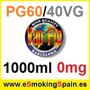 1000ml Base Vap Fip 60%PG / 40%VG 0mg