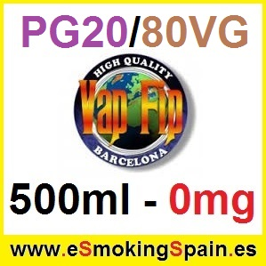 500ml Base Vap Fip 20%PG / 80%VG 0mg