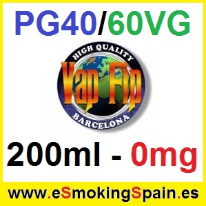 200ml Base Vap Fip 40%PG / 60%VG 0mg
