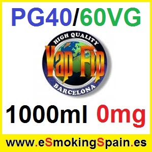 1000ml Base Vap Fip 40%PG / 60%VG 0mg