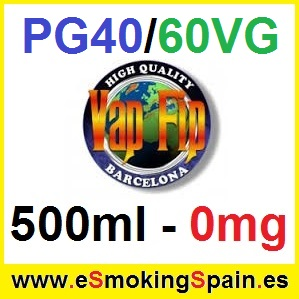500ml Base Vap Fip 40%PG / 60%VG 0mg