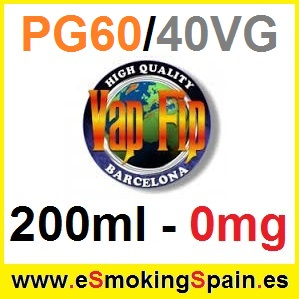 200ml Base Vap Fip 60%PG / 40%VG 0mg
