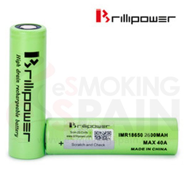 Bateria 18650 Brillipower 2600mAh 40A