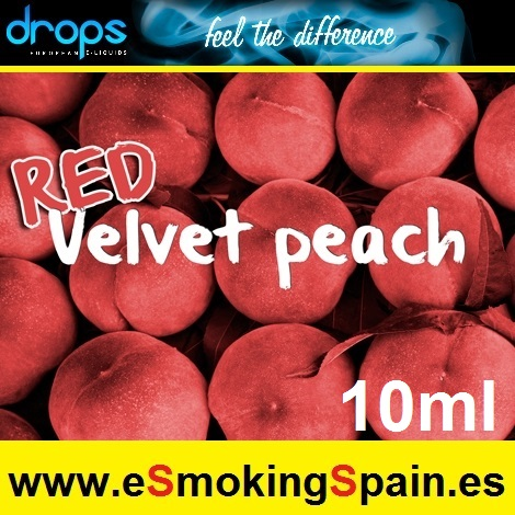 Eliquid Drops Red Velvet Peach 10ml
