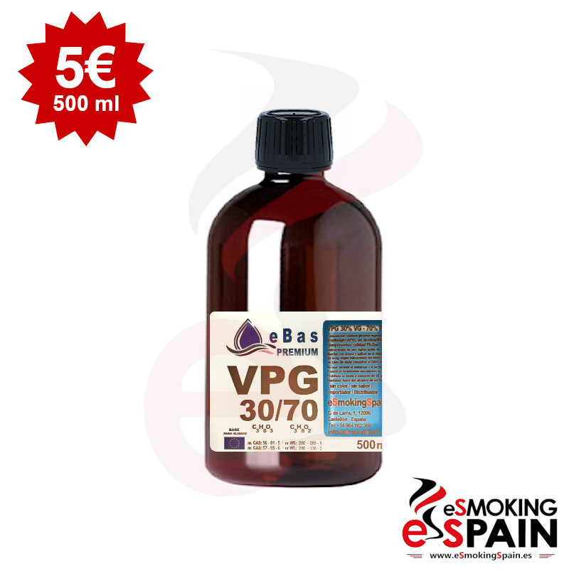 "eBas Premium VPG 30VG/70PG 500ml <img src=""includes/languages/english/images/buttons/icon_newarrival.gif"" border=""0"" alt=""New : eBas Premium VPG 30VG/70PG 500ml"" title="" New : eBas Premium VPG 30VG/70PG 500ml "">"
