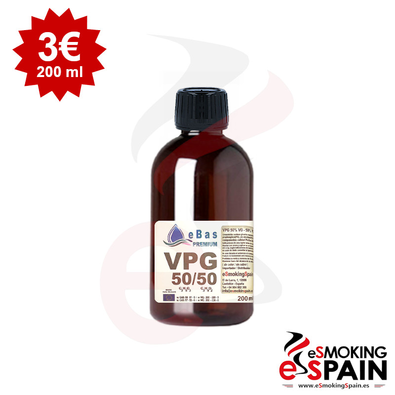 "eBas Premium VPG 50VG/50PG 200ml <img src=""includes/languages/english/images/buttons/icon_newarrival.gif"" border=""0"" alt=""New : eBas Premium VPG 50VG/50PG 200ml"" title="" New : eBas Premium VPG 50VG/50PG 200ml "">"
