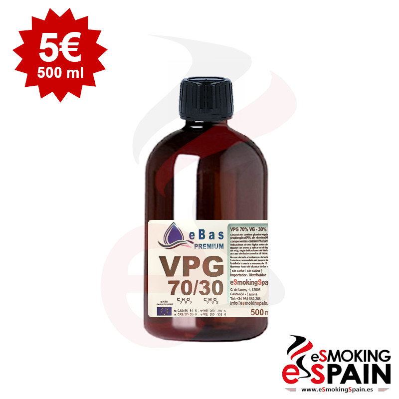 "eBas Premium VPG 70VG/30PG 500ml <img src=""includes/languages/english/images/buttons/icon_newarrival.gif"" border=""0"" alt=""New : eBas Premium VPG 70VG/30PG 500ml"" title="" New : eBas Premium VPG 70VG/30PG 500ml "">"
