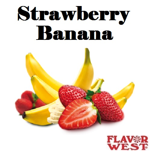 Aroma FLAVOR WEST Strawberry Banana 10ml (nº12)