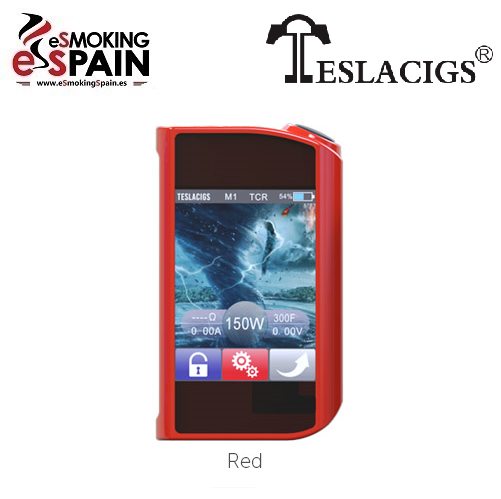 MOD TeslaCigs Touch 150W TC Red - Rojo