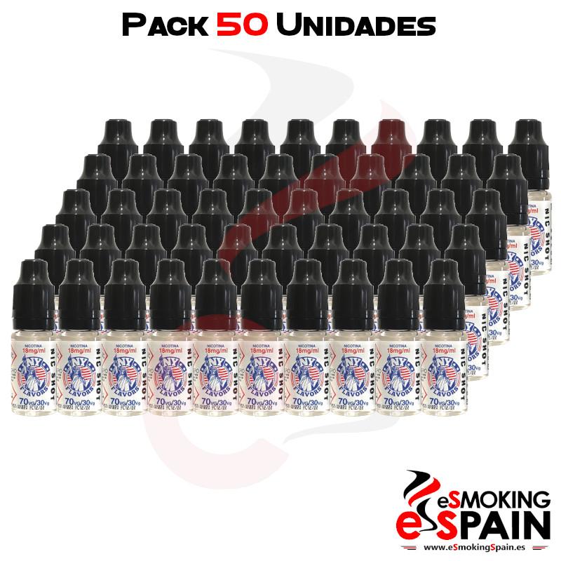 Pack 50 Unidades Nicokit NY Flavors 70VG/30PG 18mg/ml